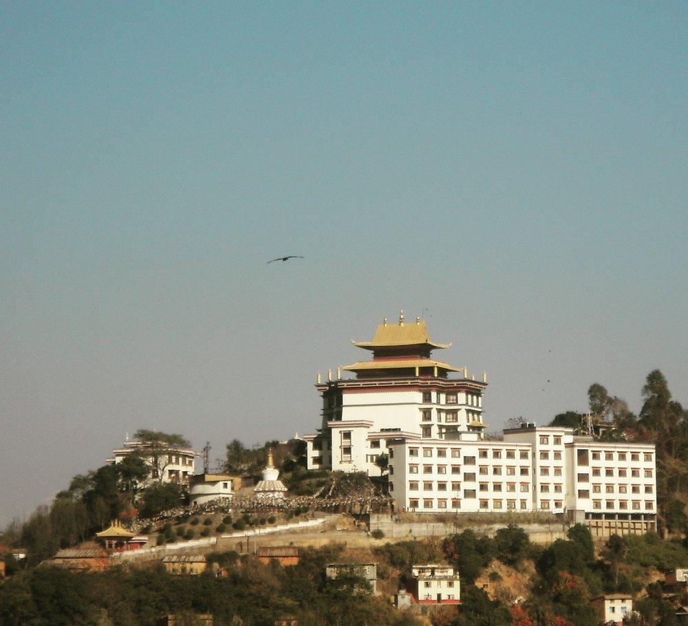 Nepal, Kathmandu - January 9, 2019   Tibetan Monastery