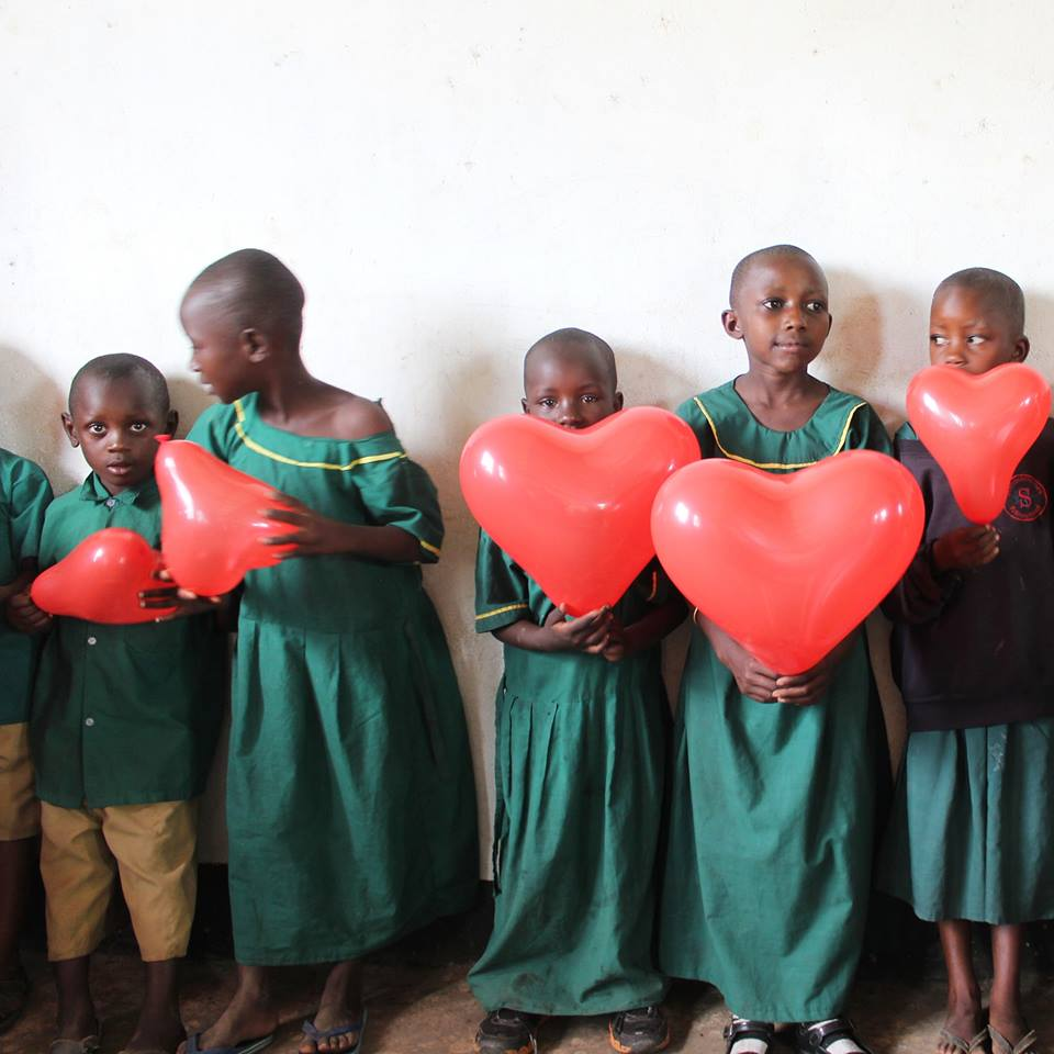 Tanzania, Africa - February 14, 2019   The children of 'Rhea Foundation' wish each and everyone of you a happy Valentine's Day.