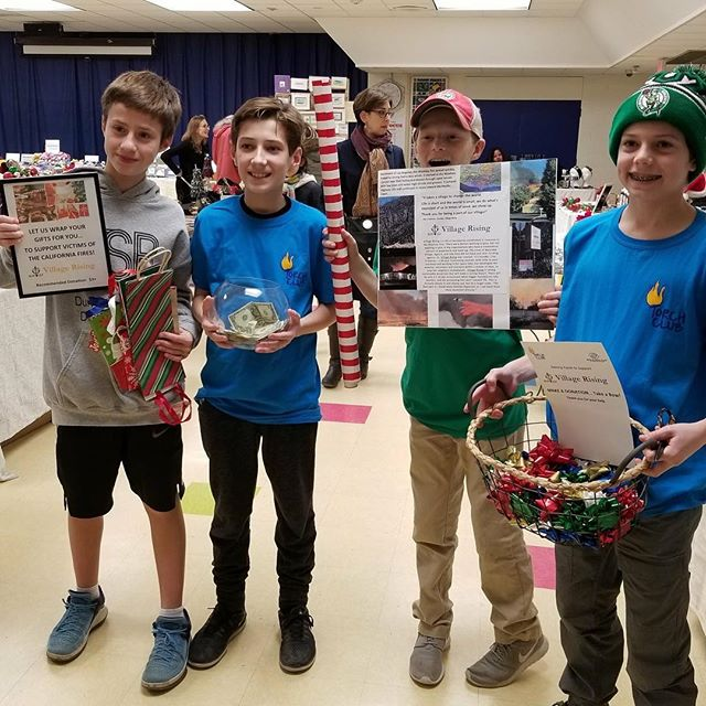 These members of the Torch Club through Boys & Girs Club in Redding, CT raised funds for victims of the #woolseyfire to be distributed through villagerising.org! ♥️♥️♥️