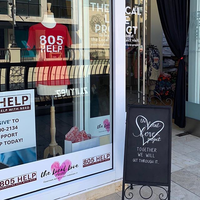 Village Rising ❤️ The Local Love Project. Thanks to Kat Merrick and the #localloveproject for inviting Oak Forest residents to shop for free yesterday at their pop-up. #Woolseyfire #Oakforest