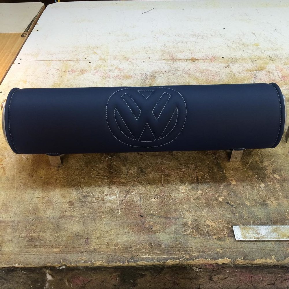 VW Custom Tank Wrap. Navy blue