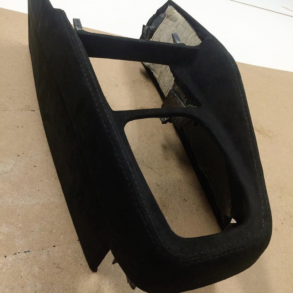 Custom Console black alcantara suede