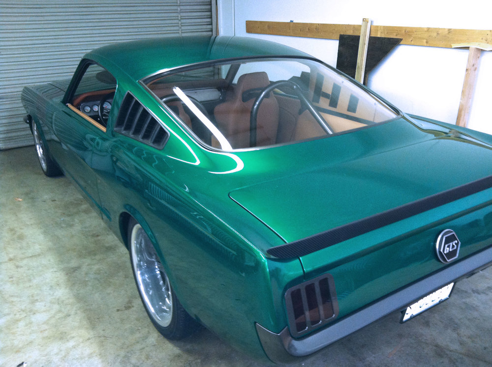 Green Mustang - Full Custom Interior