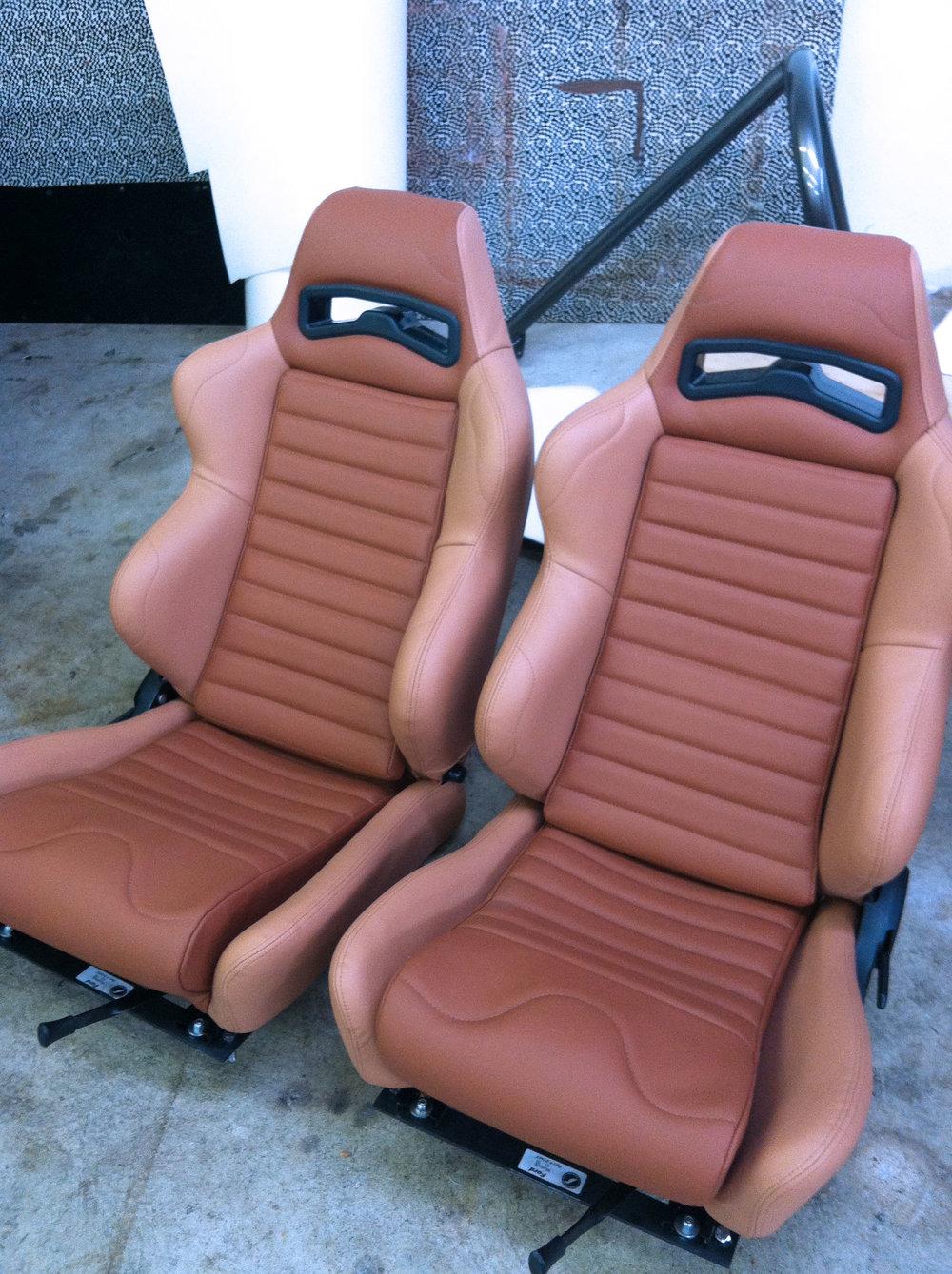 Custom Racing Seats - Tan Leather
