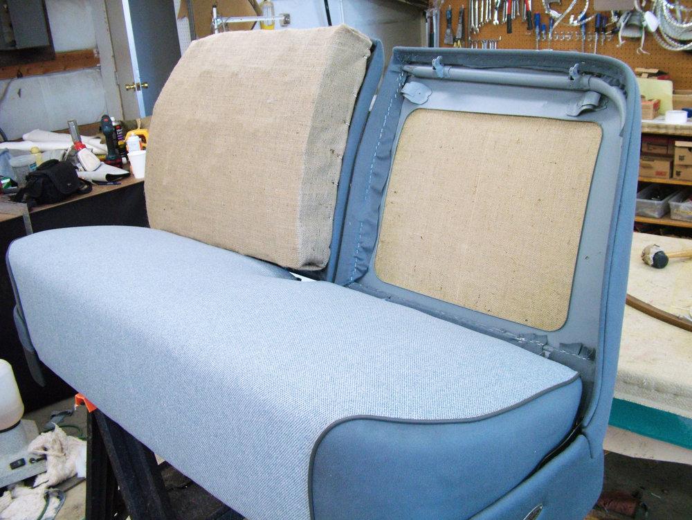 Cadillac - Restoration interior- Foam seat repair.