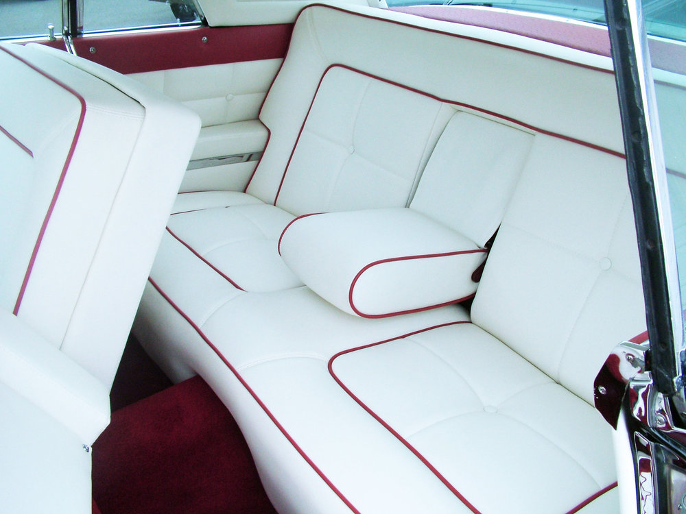 Lincoln - Interior Restoration foam seat repair with door panel restoration.