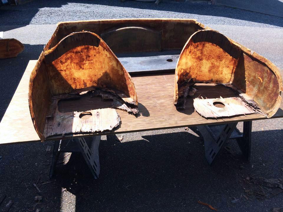 Speed boat - custom seat frame rebuild.