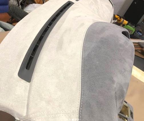 BMW Custom  Alcantara suede wrapped dash