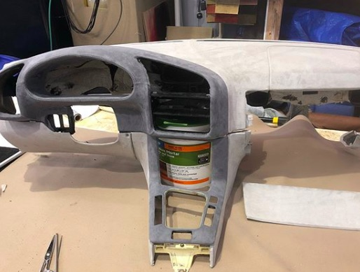 BMW - Custom wrapped dash