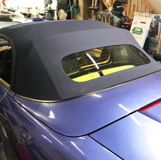 Porshe- Custom convertible top.