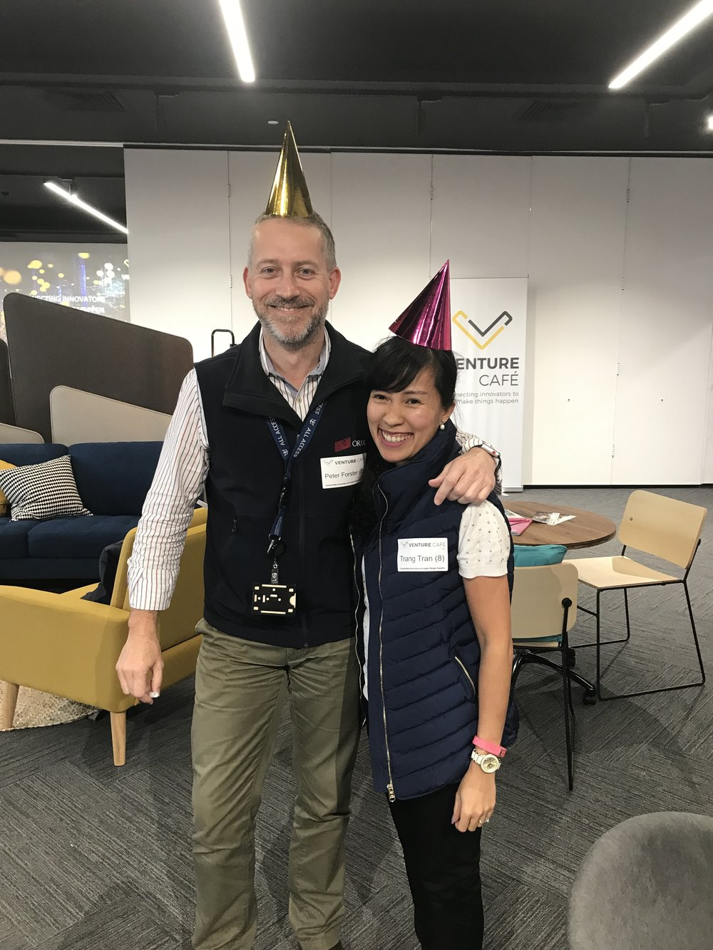 Celebrating Peter and Trang from ORIX - who have not missed a single VC Thursday! 8-for-8 weeks!