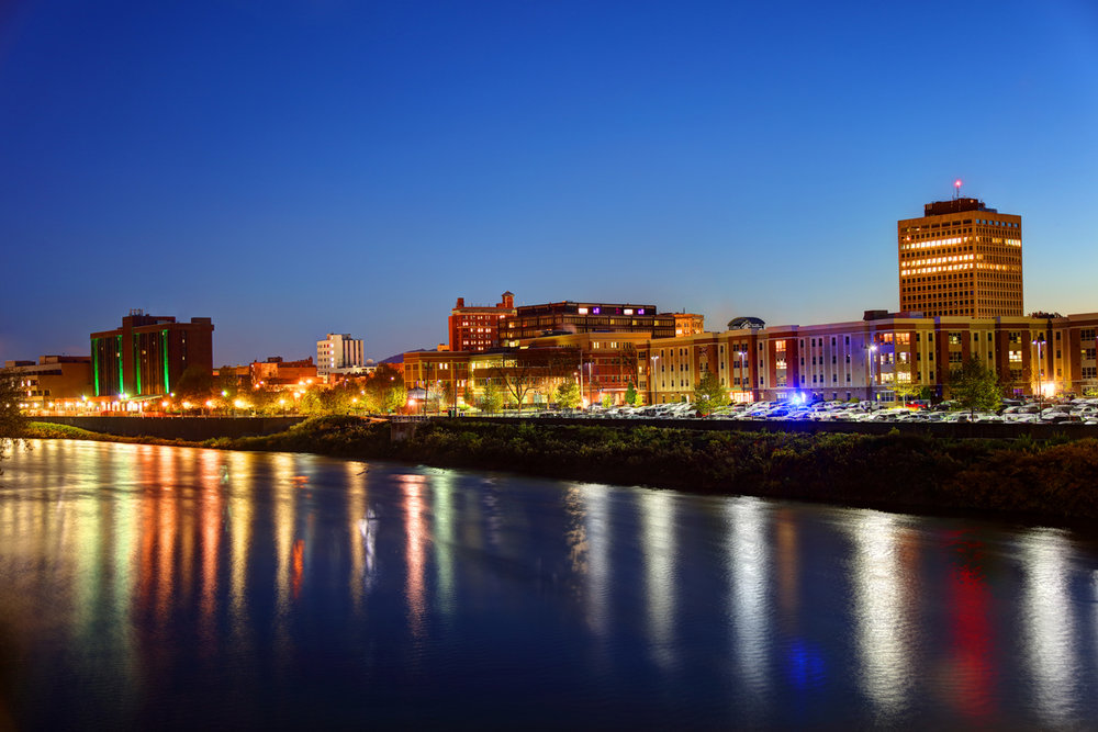 Downtown Binghamton, New York Skyline.