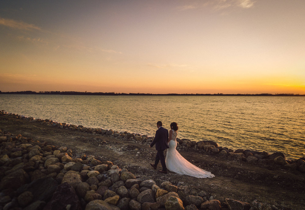 Sunset Wedding Pictures, Storm Lake