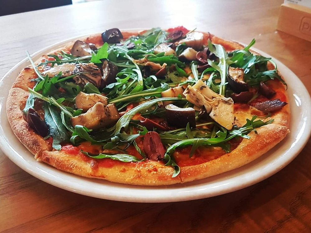 Monday - 2 for 1 Pizzas - Dine in only. from 5pm. buy any two pizzas and enjoy one on us. Pizzas range from $17 - $21. the lowered priced pizza is on us!