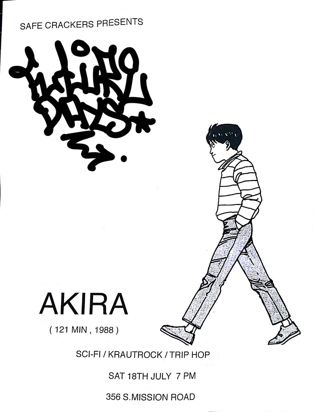 Future Days - An Evening of Sci-fi, Krautrock and Trip-Hop    July 18th - Akira screening
