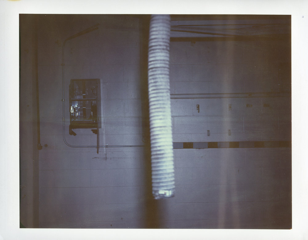 "Exposure #6 • Waltham, MA (Polaroid Factory) • 2009 • Expired Polaroid 809 • 8.5""x11"""