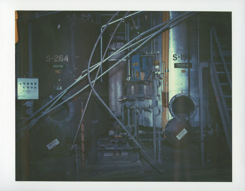 "Exposure #11 • Waltham, MA (Polaroid Factory) • 2009 • Expired Polaroid 809 • 8.5""x11"""