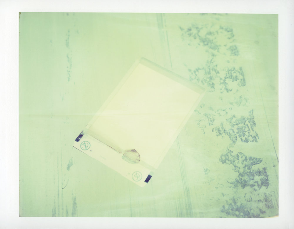 "Exposure #14 • Waltham, MA (Polaroid Factory) • 2009 • Expired Polaroid 809 • 8.5""x11"""