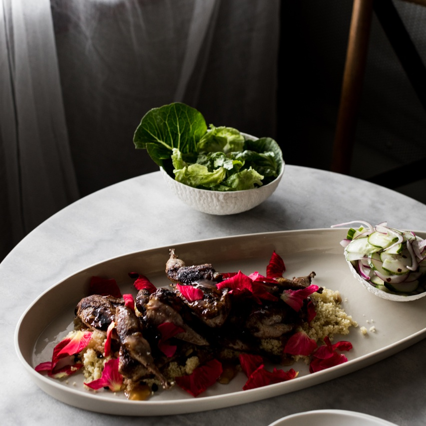 Food by Annie Smithers, photo by Tara Pearce, ceramics by us.