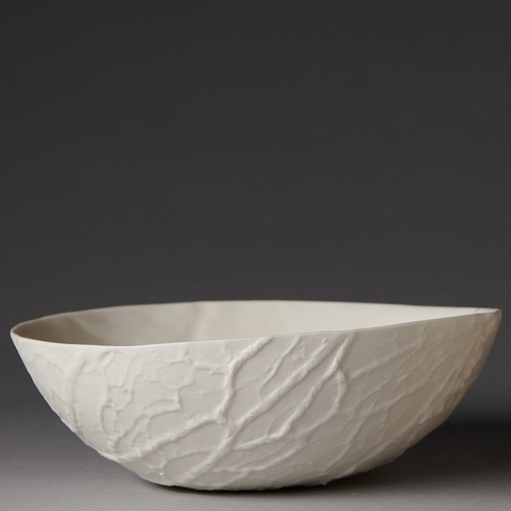 Caul bowl - version 1 - wide with an irregular rim - photo by Fred Kroh