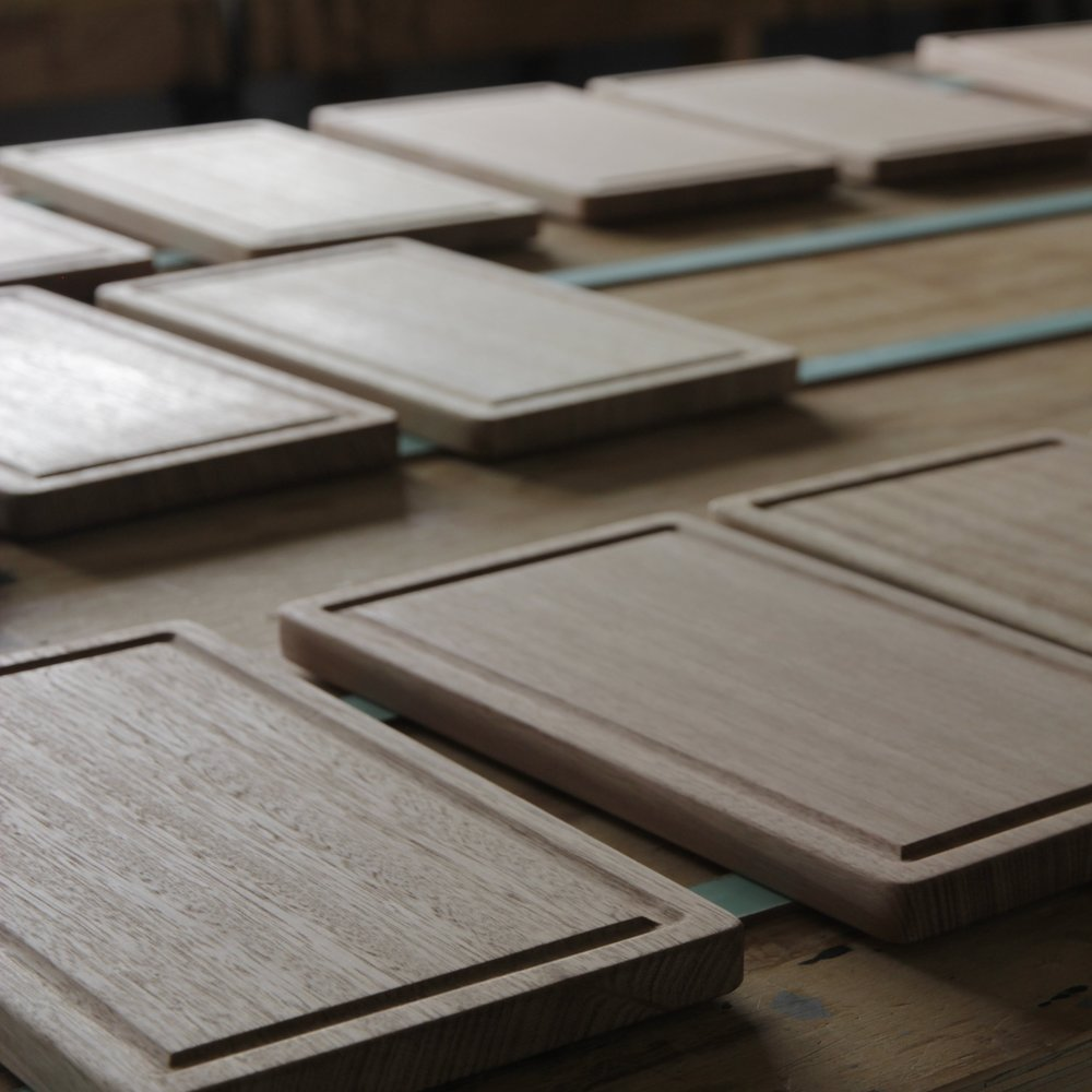 Private commission for 18 x cheeseboards using Australian timber