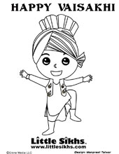 Coloring Pages Little Sikhs