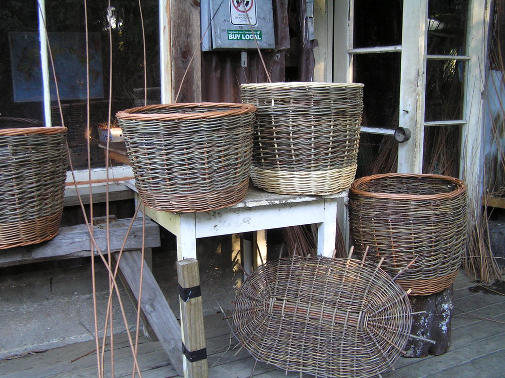 Wood baskets