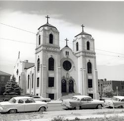 Iglesia de San Cajetano en 1960.