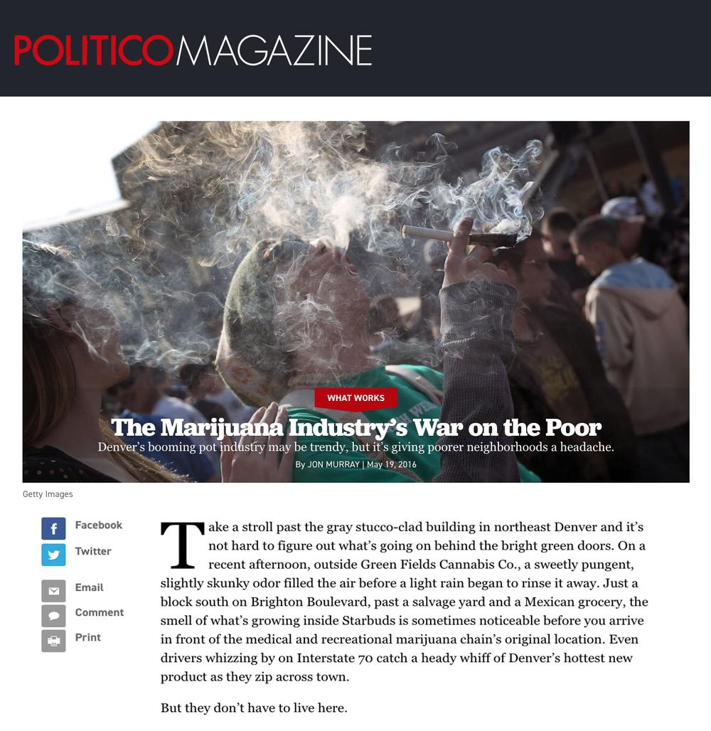 La guerra contra los pobres de la industria de la marihuana - La floreciente industria de ollas de Denver puede estar a la moda, pero le está causando dolor de cabeza a los vecindarios más pobres.
