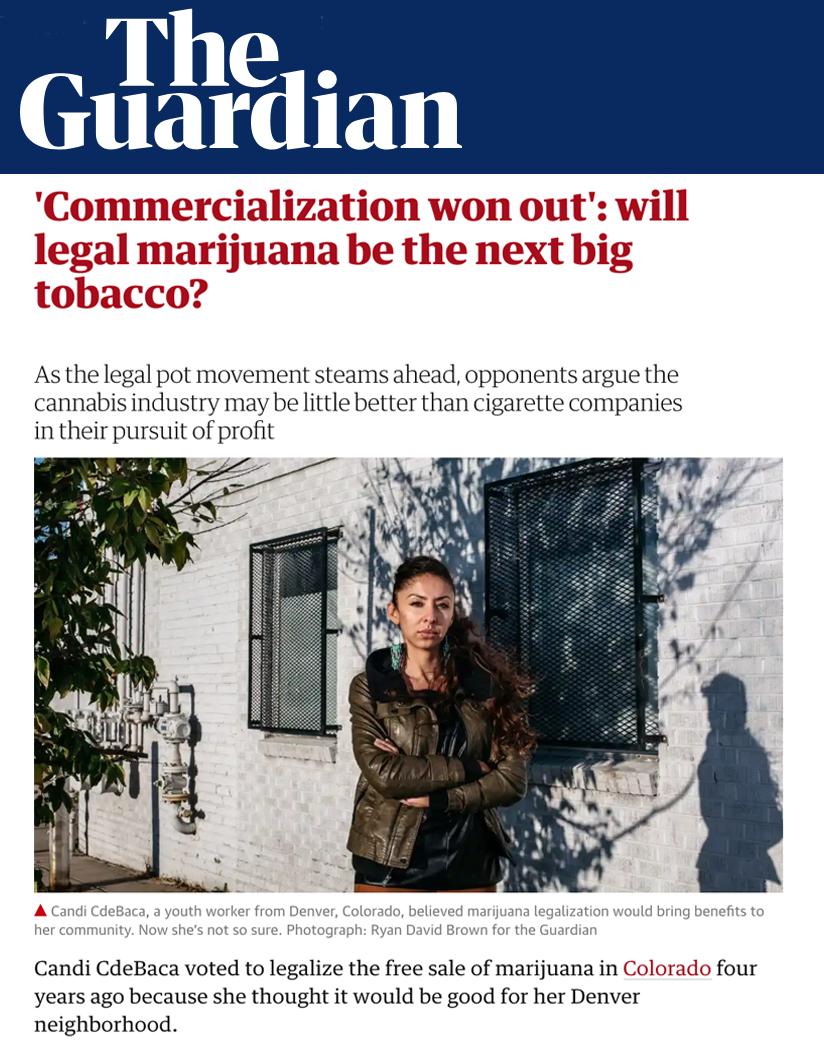 'Comercialización ganada': ¿será la marihuana legal el próximo gran tabaco? - A medida que avanza el movimiento legal de la olla, los opositores argumentan que la industria del cannabis puede ser poco mejor que las compañías de cigarrillos en su búsqueda de ganancias