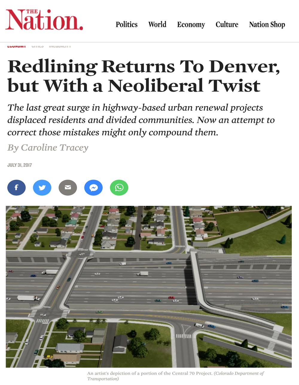 Redlining regresa a Denver, pero con un giro neoliberal - La última gran oleada en proyectos de renovación urbana basados en carreteras desplazó a los residentes y dividió a las comunidades. Ahora, un intento de corregir esos errores solo podría complicarlos.
