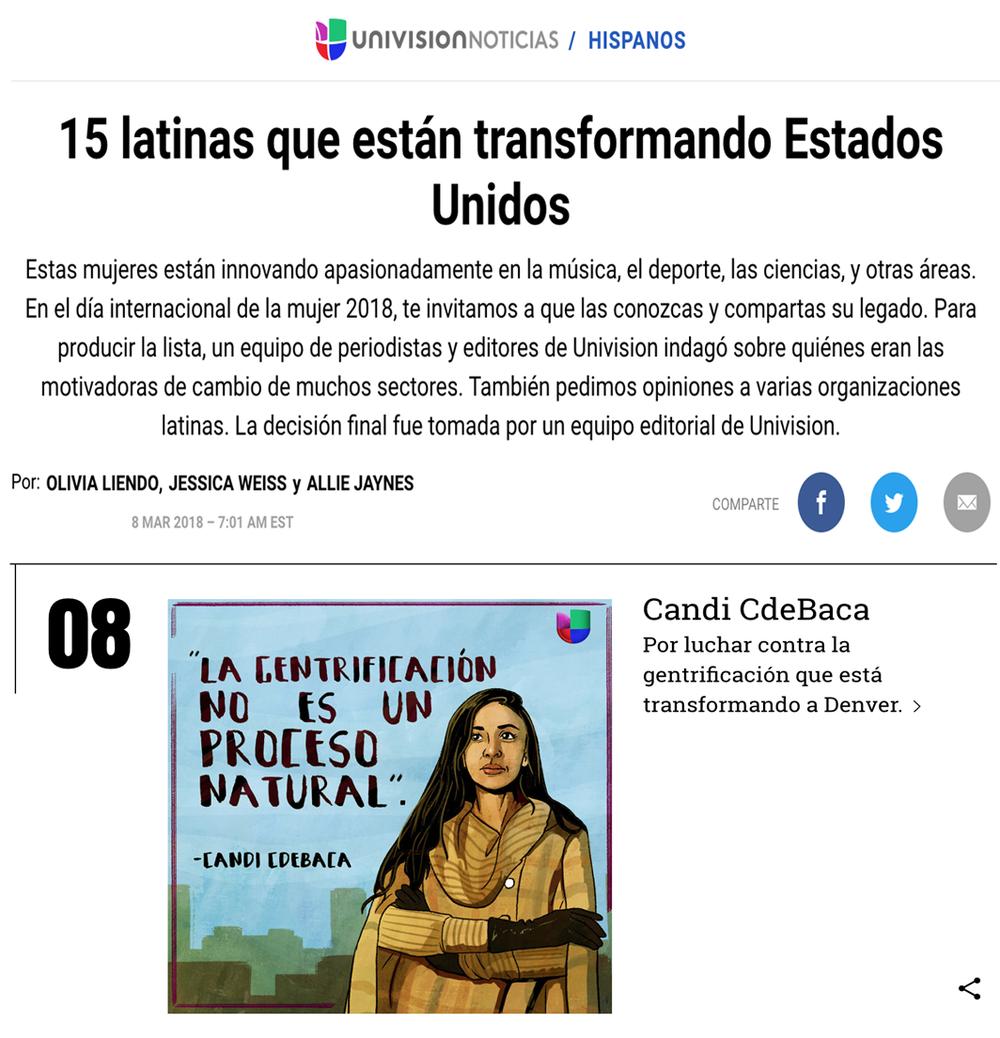 15 latinas que están transformando los Estados Unidos. -