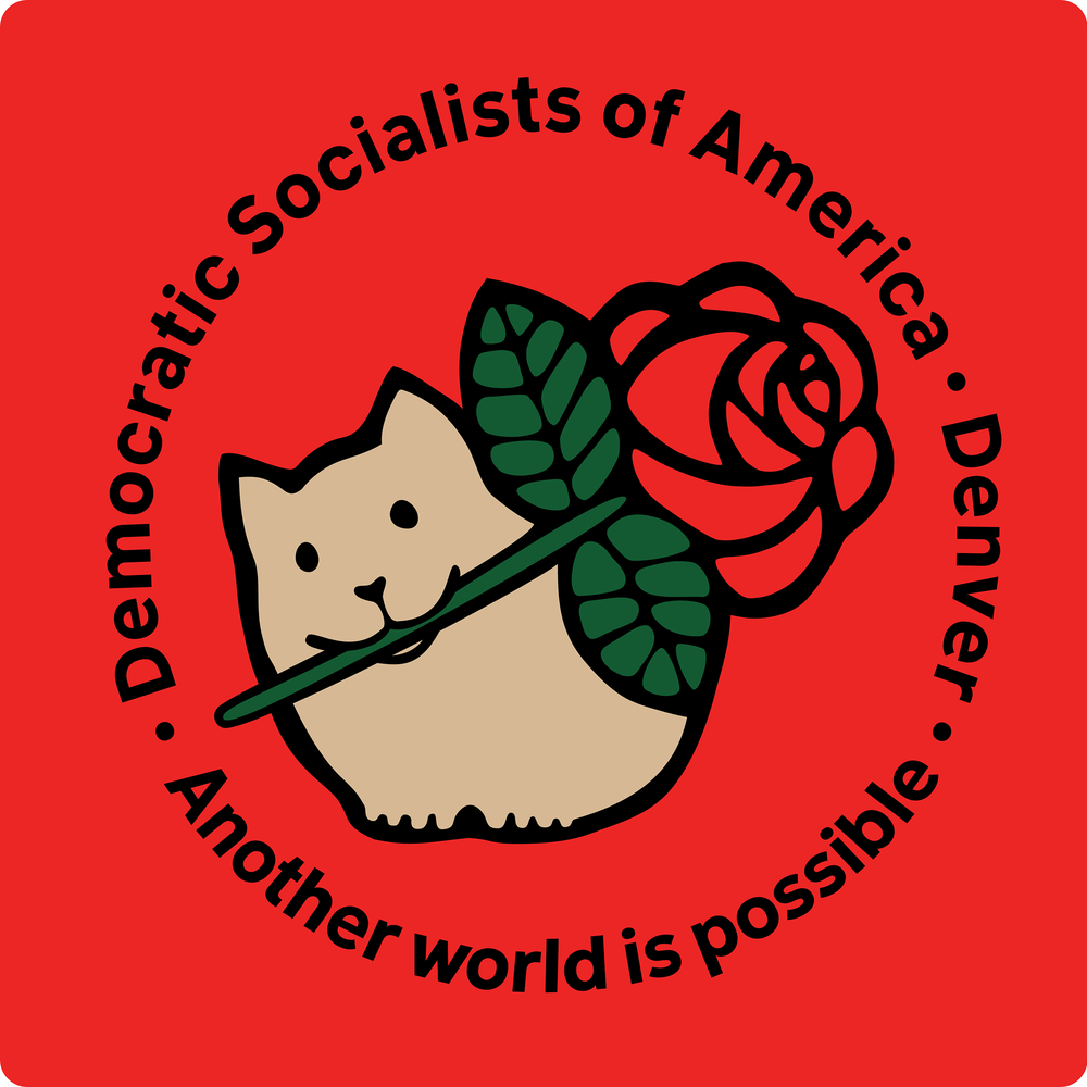 Democratic Socialists of America, Denver   The Democratic Socialists of America believe that working people should run both the economy and society democratically to meet human needs, not to make profits for a few.