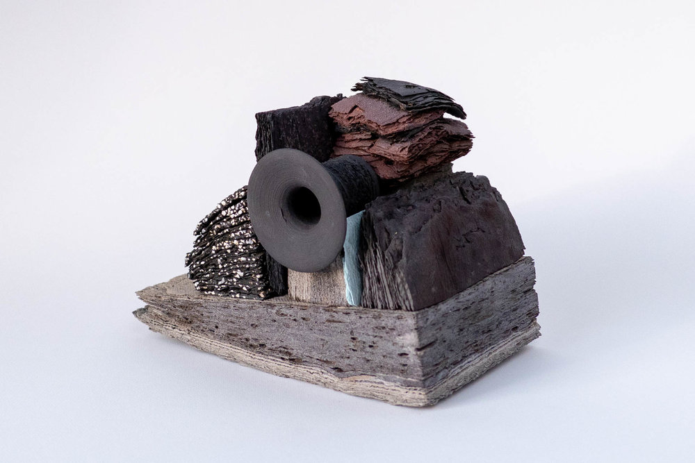 Observations on the means to carry on III , 2018. | Porcelain and Stoneware layered and Wheel-thrown.  Photo credit: Courtesy of the artist