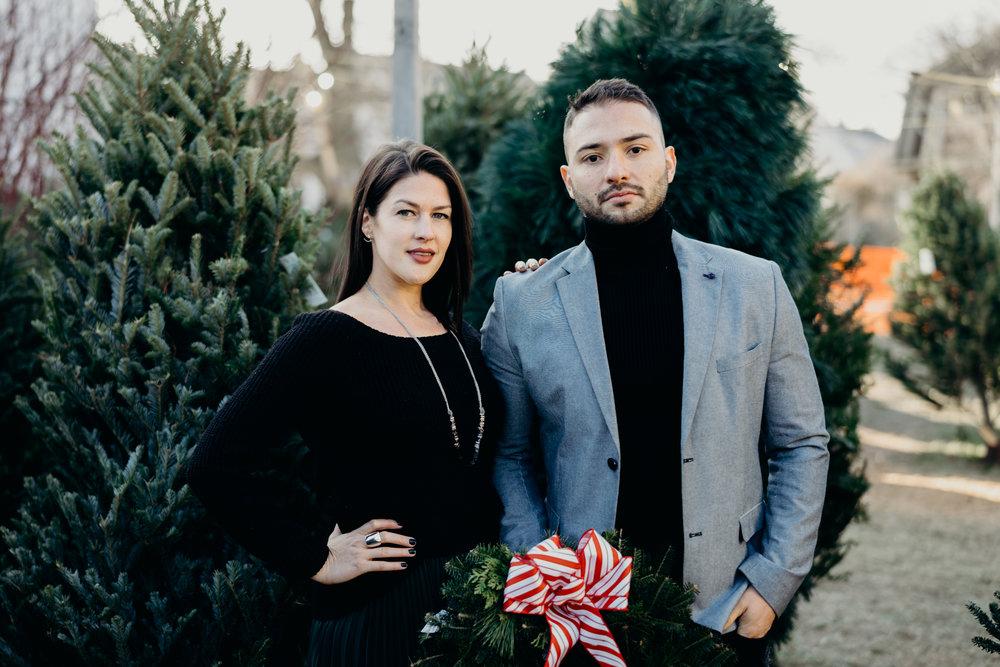 Christmas Tree Farm Family Photo