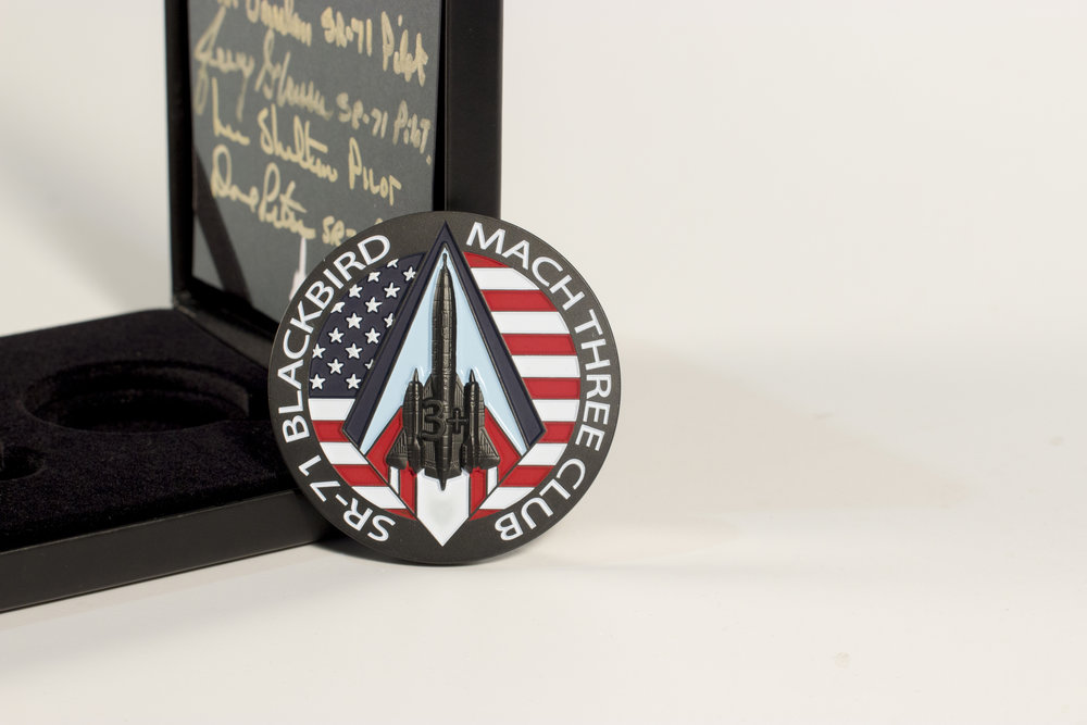 SR-71 Blackbird Coin-£99.00/also available as a Double Coin set Limited to 71 Sets-signed by 6 former pilots-£149