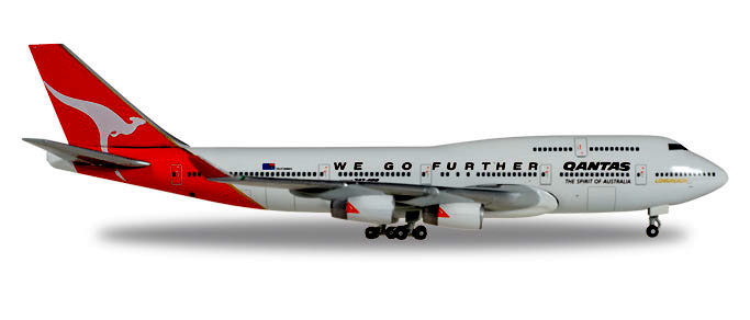 - 1/500 Qantas 'We Go Further' 25 Years Anniversary 747-400 VH-OJA £33.00
