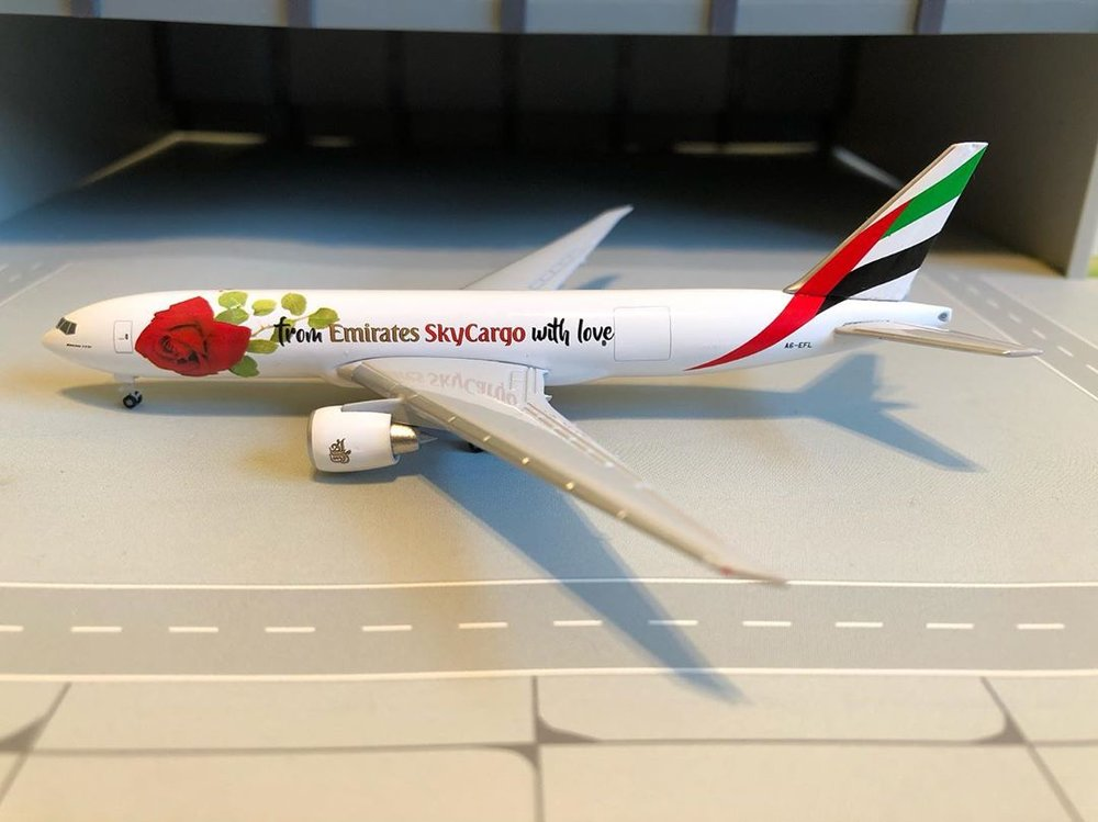 - 1/500 Emirates Cargo 777F 'With Love' A6-EFL £40.00