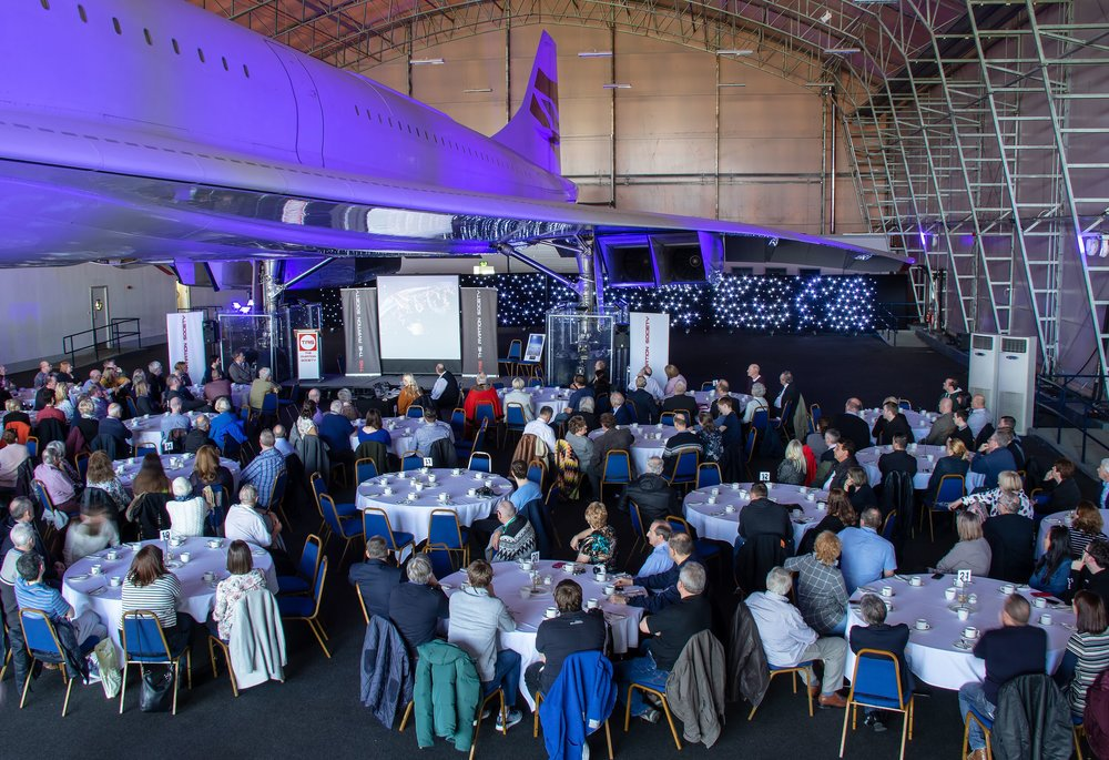 Alpha Charlie and the hangar looked superb! What a way to celebrate the first flight of such an iconic aeroplane.