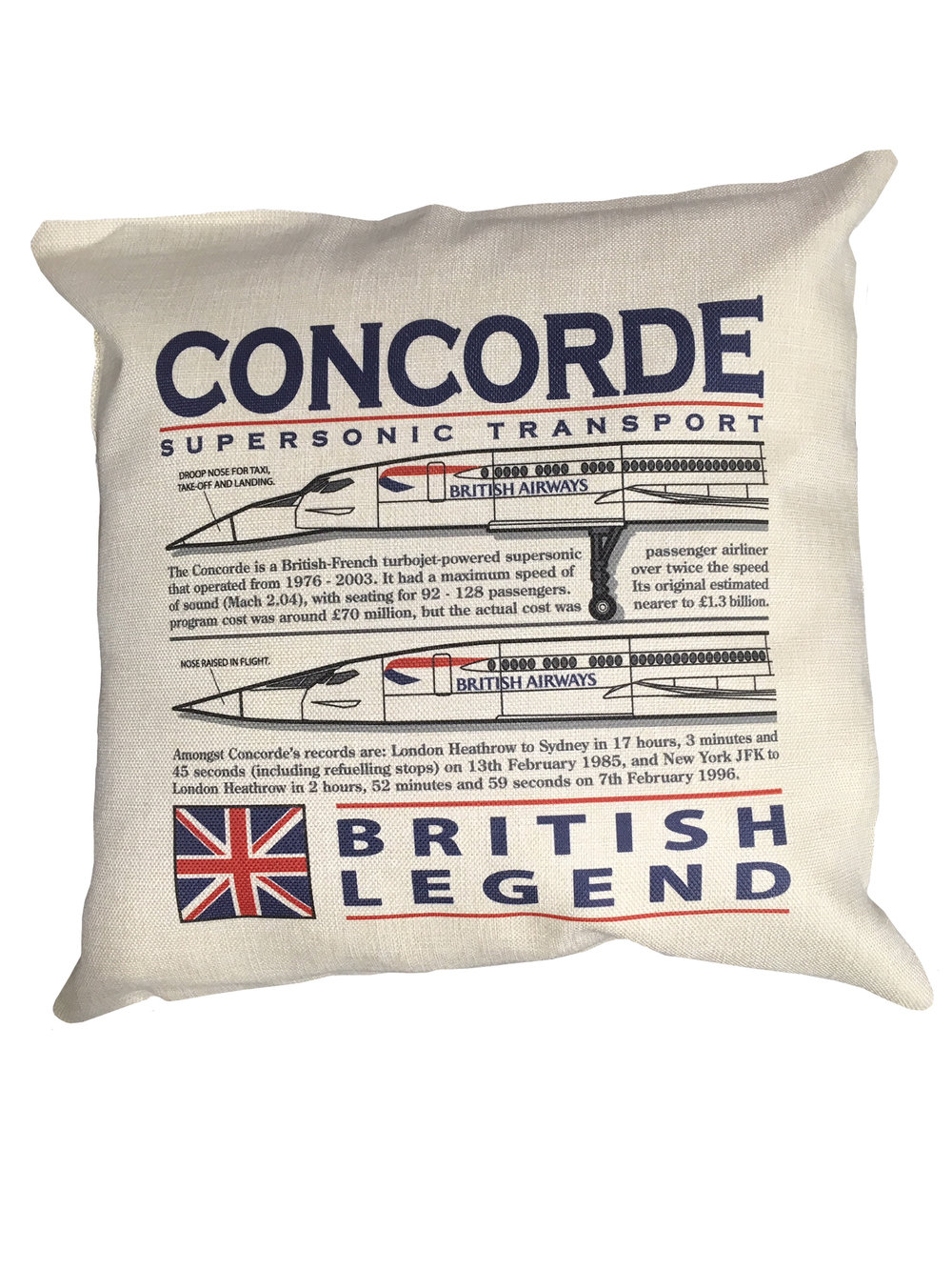 - Concorde British Legend Cushion £25.00