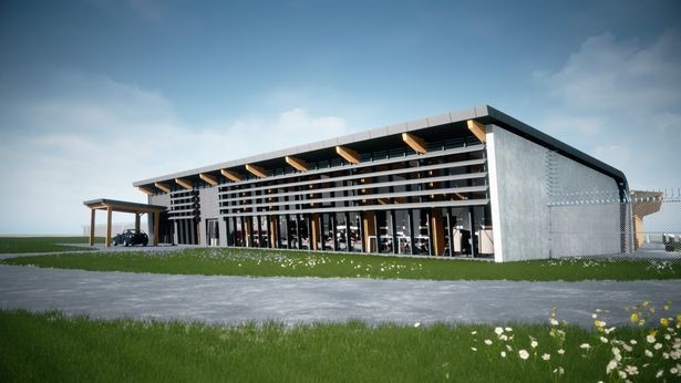 Artists Impression of the new PremiAir Terminal (Airside view)