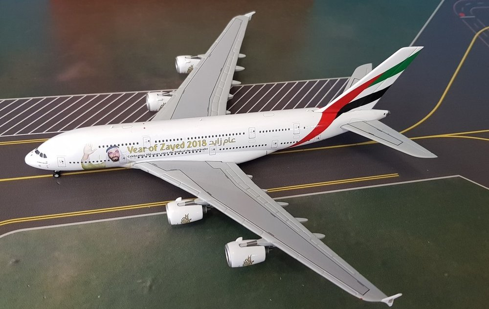 - 1/400 Emirates A380-800 'Year of Zayed 2018' A6-EUZ£55.00
