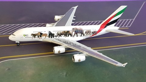 - 1/500 Emirates A380 'United for Wildlife' A6-EEI£40.00