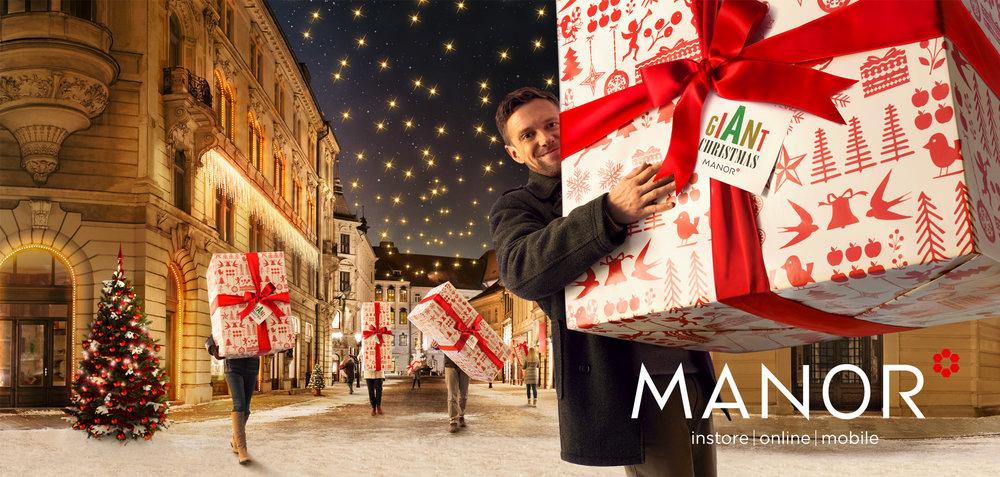 Werbekampagne MANOR | Weihnachtsplakate