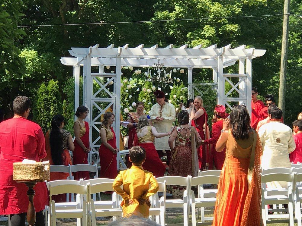Hindu ceremony in the Pergola