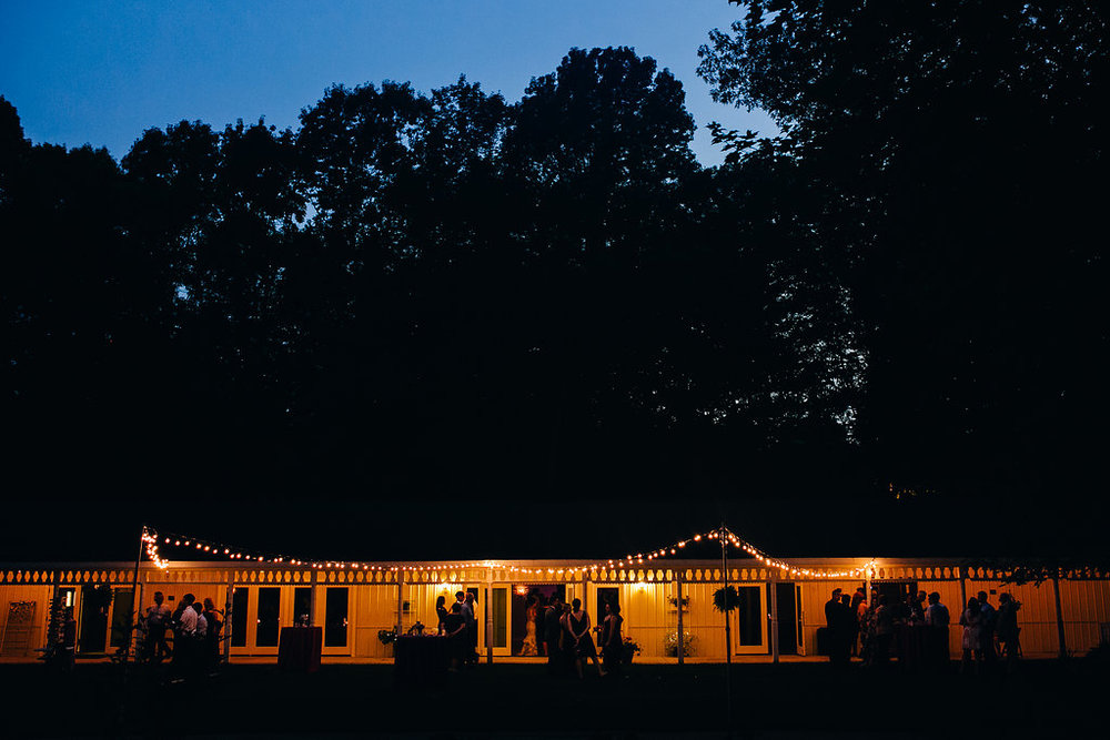 Enjoy the outdoor elements on the Riverside Room lawn!