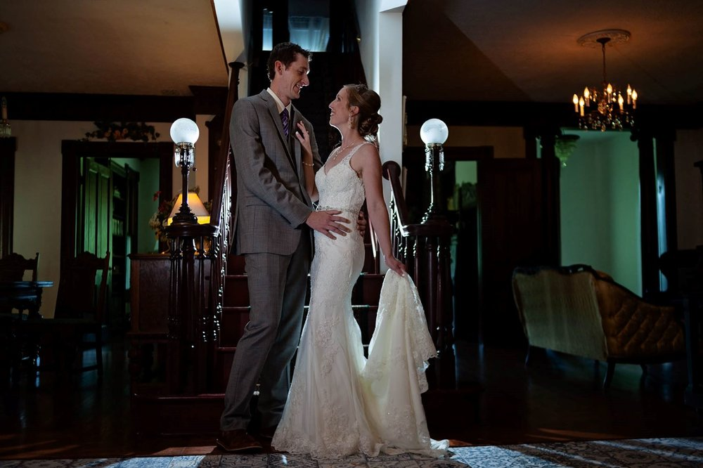 Bride and Groom portraits in The Manor House