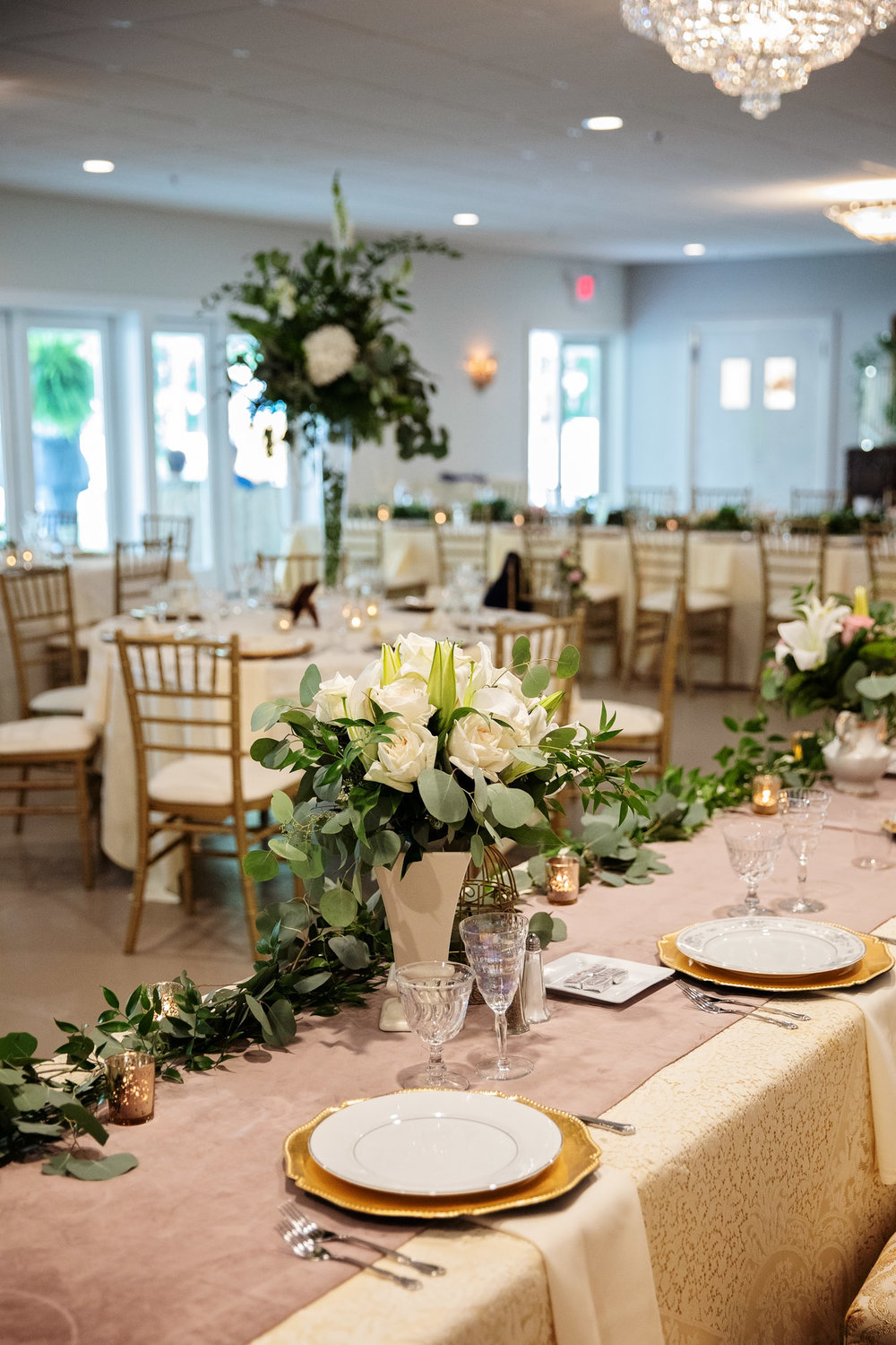 Table decor and reception set up