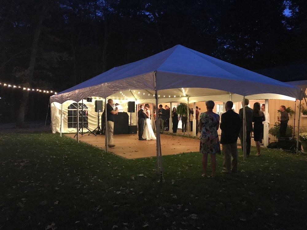 Outdoor Tent and Dance Floor