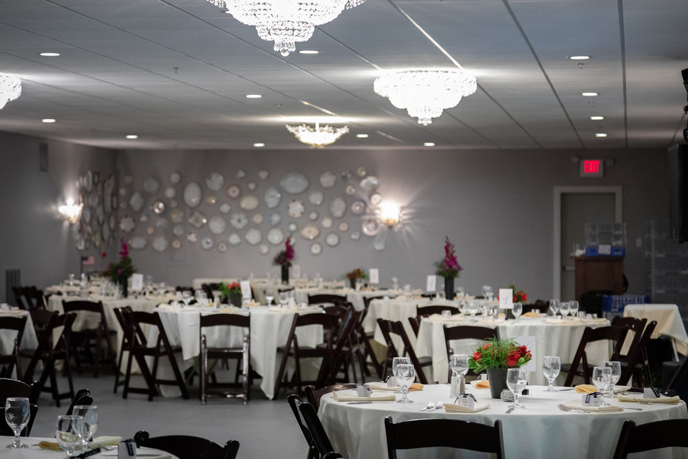 Beautiful chandeliers that light up the room!